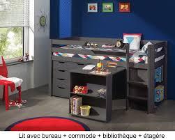 lit enfant avec bureau lit enfant combiné bureau et rangement theo en pin massif so nuit