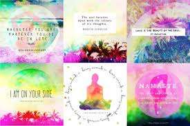rainbow love app blogmindful quote cards for yogis