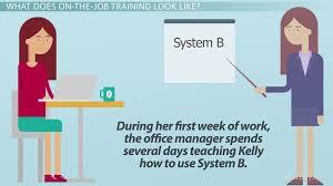 on the job training definition advantages u0026 importance video