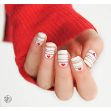 last minute valentine nails nail art by paulina nail art