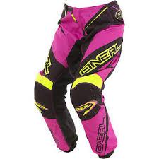 womens motocross gear packages oneal 2017 new ladies mx gear element black hi viz pink womens