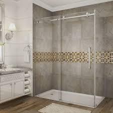 bypass sliding corner shower doors shower doors the home depot moselle 60 in x 33 4375 in x 75 in completely frameless