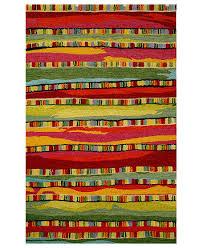 Liora Manne Area Rug Liora Manne Area Rug Seville 9625 24 Mosaic Stripe 8 X 10