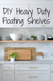 Free Wooden Shelf Bracket Plans by Diy Heavy Duty Bracket Free Floating Kitchen Shelves House Updated