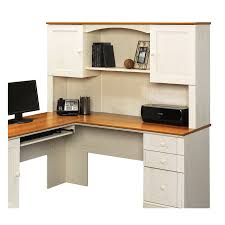 Sauder L Shaped Desk With Hutch Shop Sauder Harbor View Casual L Shaped Desk At Lowes