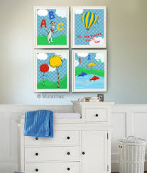 Fish Nursery Decor Dr Seuss Nursery Decor Cat In The Hat One Fish Two Fish Nursery