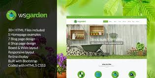 ws garden responsive gardening html template by wordpressshowcase