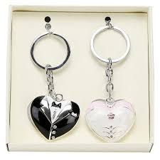 Wedding Gift Set Wedding Gift Set Bride U0026 Groom Keyrings Confetti Co Uk