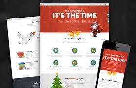 free christmas landing page html template u2022 pixelsmarket