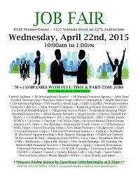 Job Fair Resume by City College Of San Francisco Hosts Job Fair Wednesday April 22nd