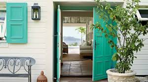 paint color ideas for your front door coastal living