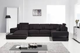 Black Fabric Sectional Sofas Trend Black Fabric Sectional Sofas 94 In Sectional Sofa With