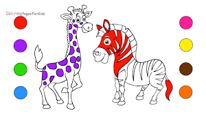 wild animals coloring pages for kids how to draw animals drawing