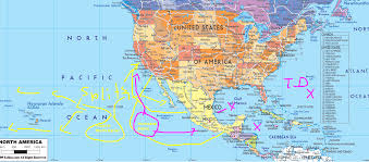 Mexico Wall Map Map Mexico West Coast Getplaces Me
