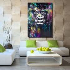 Art For Living Room Online Get Cheap Gorilla Paintings Aliexpress Com Alibaba Group
