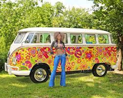 volkswagen van hippie hippie woman vw van bus stock illustration illustration of