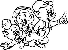 three little pig coloring page wecoloringpage