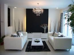 Art Deco Living Room by Classic Small Chandelier With Elegant White Couches For Modern Art