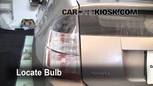 how to replace tail light bulb tail light change 2004 2009 toyota prius 2005 toyota prius 1 5l 4 cyl