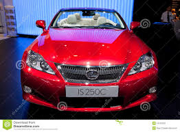 lexus red red car lexus is 250 c editorial stock photo image of headlight