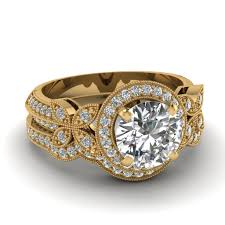 white gold engagement ring with yellow gold wedding band jewelry rings yellow gold diamond engagement rings settings in