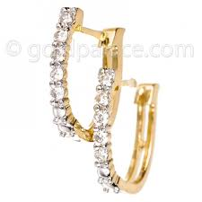 diamond huggie earrings diamond huggie earrings 18k gold gold jewelry gold palace