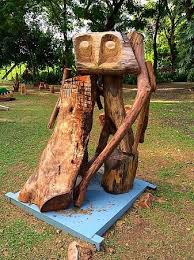 wood sculpture singapore an owl sculpture at fort canning park many other pieces on