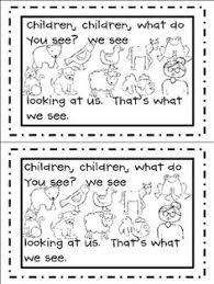 printable book brown bear gbk green bean kindergarten