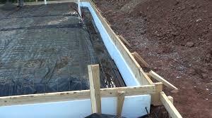 slab edge insulation before concrete youtube