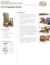 Amish Poly Outdoor Furniture by Amish Fan Back Glider Chair From Dutchcrafters Amish Furniture