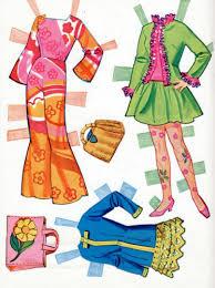 vintage whitman barbie christie stacey paper dolls 1968 uncut mod