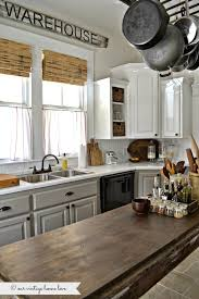 Painted Kitchen Cabinets White Uppers And Gray Lowers With Annie - White chalk paint kitchen cabinets