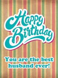 happy birthday simple design vintage design happy birthday card for husband birthday greeting