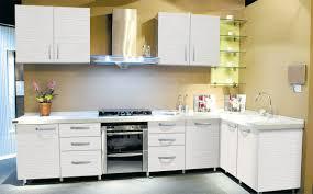 Painting Melamine Kitchen Cabinet Doors Kitchen Exciting White Kitchen Design Ideas Using Cream Melamine