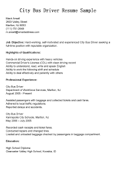 Truck Driver Resume Example by Driver Resumes City Bus Driver Resume Sample