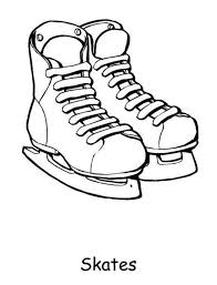 ice skates coloring sheet ice arena free winter coloring pages