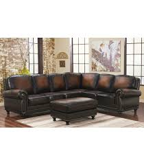 venezia leather sectional and ottoman sectionals venezia leather sectional