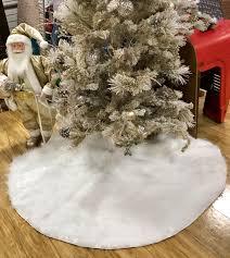 white tree skirt tree skirt white faux fur tree skirt