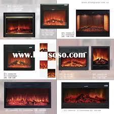 Home Decor Fireplace Fireplace Stylish Electric Fireplace Insert With Bricked Wall For