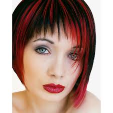 gray hair streaked bith black trends for bright red hair with black highlights hair and
