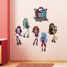 Monster High Room Decor Ideas Interior Monster High Wall Decals Small Fatheads Monster Jam