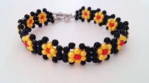 beads bracelet designs images Make simple beaded flower bracelet bracelet design idea jpg