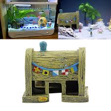 resin spongebob aquarium decoration krusty krab fish tank