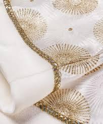 54 inch gold and ivory satin tree skirt tree classics