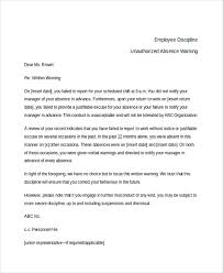 sample employee warning notice 8 sample documents in pdf doc