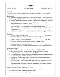 Sample Of Resume For Electrical Engineer by Electrical Engineering Electromagnetic Resume Sample Http