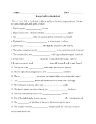regular nouns worksheets nouns suffixes worksheet