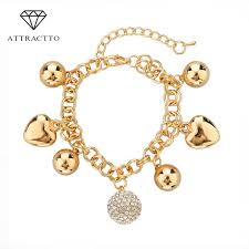 gold bracelet with heart charms images Attractto new design delicate korean simple gold bracelets bangles jpg