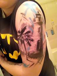 palm tree lighthouse trash done by robby latos