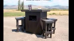 Pallet Furniture Outdoor Bar Xtra Large Large And Baby Bar Leaner Settings Youtube
